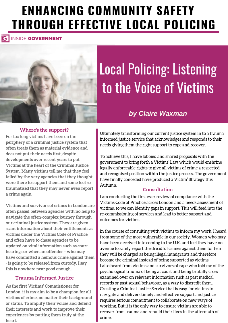 Local Policing - Victims Perspective
