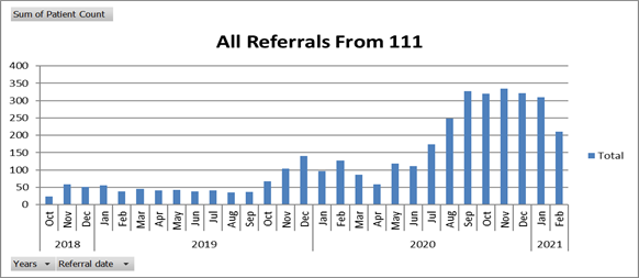 Referrals NHS 111 Luton and Bedfordshire
